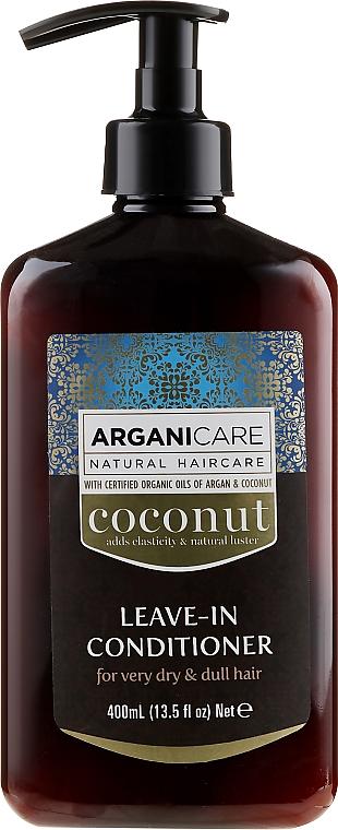 Balsamo indelebile per capelli molto secchi e opachi - Arganicare Coconut Leave-In Conditioner For Very Dry & Dull Hair