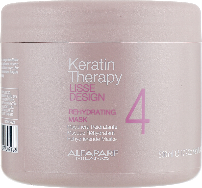 Maschera capelli idratante - Alfaparf Lisse Design Keratin Therapy Rehydrating Mask — foto N3