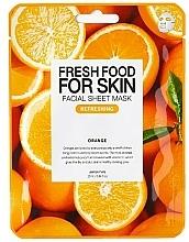 "Profumi e cosmetici Maschera viso ""Arancio"" - Superfood For Skin Facial Sheet Mask Orange Refreshing"