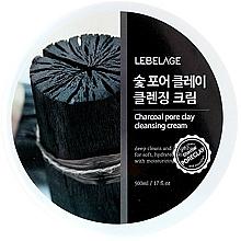 Profumi e cosmetici Crema viso detergente - Lebelage Charcoal Pore Clay Cleansing Cream