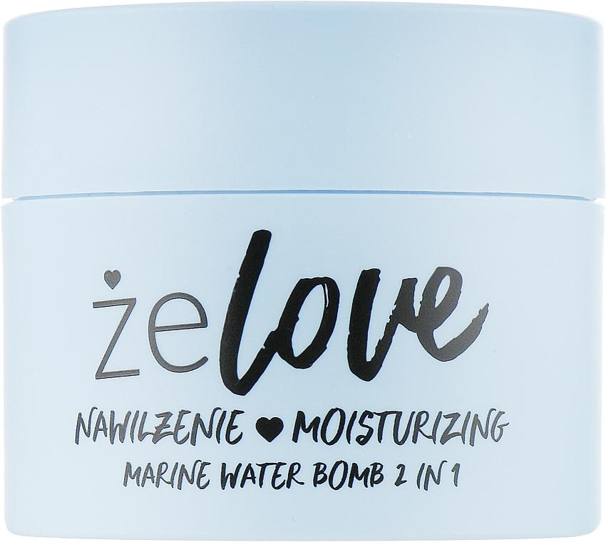 Gel idratante per viso, collo e decolleté - FlosLek ZeLove Moisturizing Marine Water Bomb 2in1
