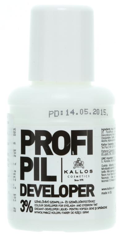 Ossidante 3% per tinta sopracciglia e ciglia - Kallos Cosmetics Profi Pil Developer 3% — foto N1