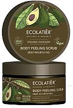 """Profumi e cosmetici Scrub corpo """"Nutrizione profonda"""" - Ecolatier Organic Avocado Body Peeling Scrub"""