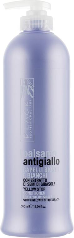 Balsamo anti-ingiallimento per capelli grigi e decolorati - Black Professional Line Yellow Stop Conditioner — foto N1