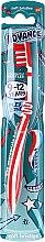 Profumi e cosmetici Spazzolino da denti per bambini, 9-12 anni, rosso-bianco - Aquafresh Advance Soft