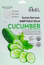 Profumi e cosmetici Maschera in tessuto all'estratto di cetriolo - Ekel Super Natural Ampoule Mask Cucumber