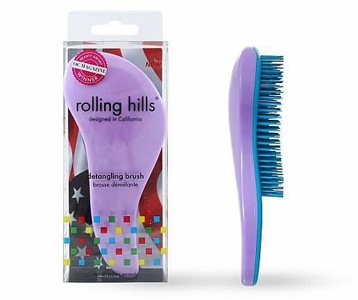 Spazzola per capelli, viola chiaro - Rolling Hills Detangling Brush Travel Size Light Purple — foto N1