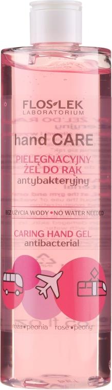 Gel mani antibatterico con rosa e peonia - Floslek Hand Care Caring Hand Gel