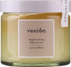 Profumi e cosmetici Scrub corpo rivitalizzante - Resibo Regenerating Body Scrub Lotus Effect