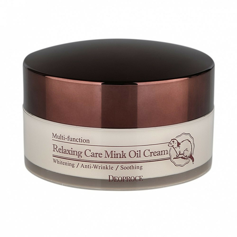 Crema rilassante all'olio di visone - Deoproce Relaxing Care Mink Oil Cream — foto N1