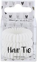 Profumi e cosmetici Elastico capelli, bianco, 3 pz - Cosmetic 2K Hair Tie White