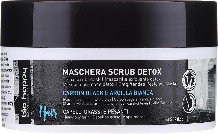 Maschera-scrub per capelli - Bio Happy Carbon Black & White Clay Scrub Mask — foto N1