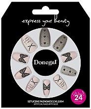 Profumi e cosmetici Set di unghie finte con colla, 3046 - Donegal