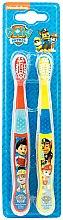 Profumi e cosmetici Set spazzolini da denti, morbidi, rosso + giallo - Nickelodeon Paw Patrol (toothbrush/2szt)