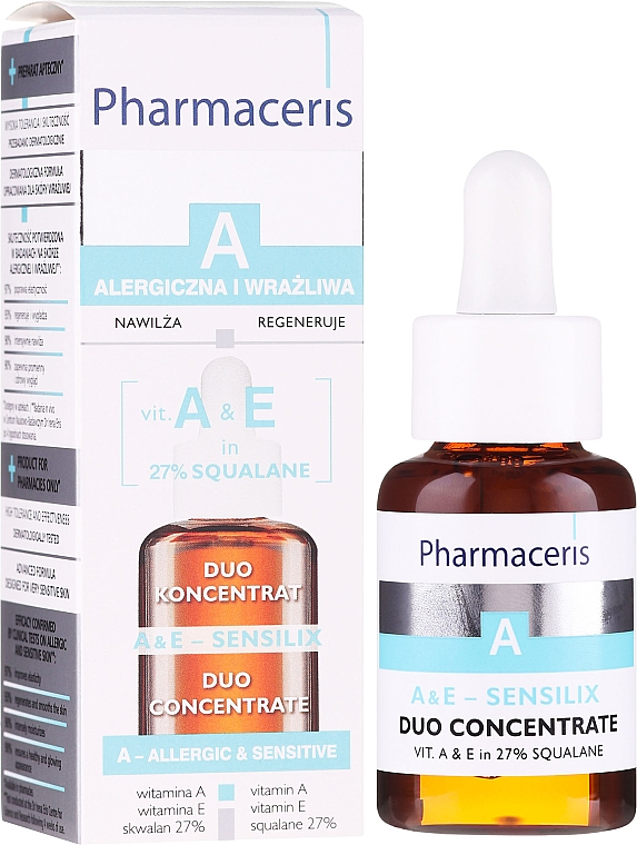 Concentrato con vitamine A ed E - Pharmaceris A A&E Sensilix Duo Concentrate