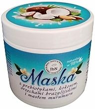 Profumi e cosmetici Maschera per capelli con prebiotici, estratto di cocco, olio di noce del Brasile e olio di murumuru - Inspired by Nature