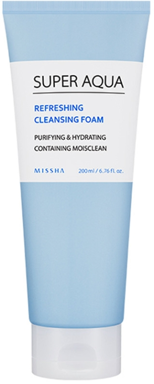 Schiuma-crema detergente viso - Missha Super Aqua Refreshing Cleansing Foam — foto N1