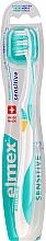 Profumi e cosmetici Spazzolino morbido, giallo turchese - Elmex Sensitive Toothbrush Extra Soft