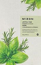 Profumi e cosmetici Maschera in tessuto a base di erbe - Mizon Joyful Time Essence Mask Herb