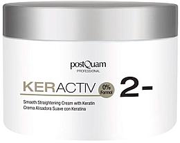 Profumi e cosmetici Crema con cheratina per lisciare capelli, leggero - PostQuam Keractiv Smooth Straightening Cream With Keratin