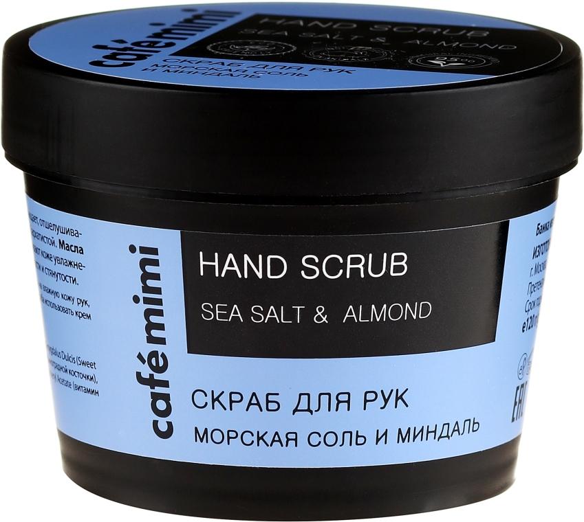 "Scrub mani ""Sale marino e mandorle"" - Cafe Mimi Hand Scrub"
