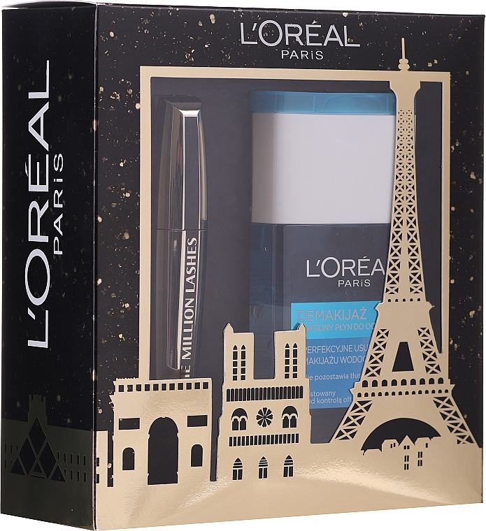 Set - L'oreal Paris Make-up Set (mascara/10.7ml + demaquillant/125ml)