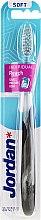 Profumi e cosmetici Spazzolino da denti morbido, nero trasparente - Jordan Individual Reach Toothbrush Soft