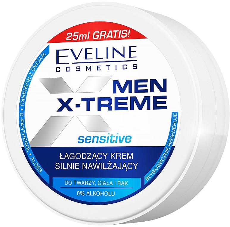 Crema ultra-idratante lenitiva per viso, mani e corpo - Eveline Cosmetics Men X-Treme Sensitive Cream