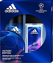 Profumi e cosmetici Adidas UEFA Champions League Victory Edition - Set (deo/spray/75ml+deo/150ml)