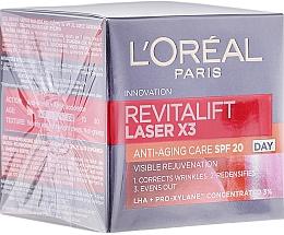 Profumi e cosmetici Crema viso, da giorno - L'Oreal Paris Revitalift Laser X3 Anti-Age SPF 20