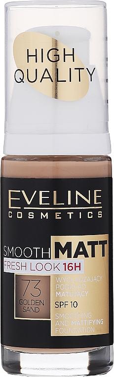Fondotinta opacizzante - Eveline Cosmetics Smooth Matt SPF10