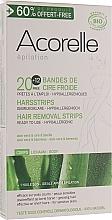 """Profumi e cosmetici Set di strisce di cera per depilazione """"Aloe e pappa reale"""" - Acorelle Wax Strips"""