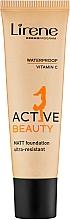 Profumi e cosmetici Fondotinta - Lirene Active Beauty Matt Foundation Ultra-Resistant