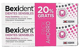 Profumi e cosmetici Set - Isdin Bexident Duo Sensitive Toothpaste(toothpaste/2x75ml)