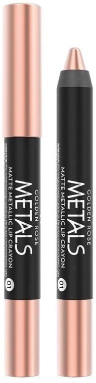 Matita labbra - Golden Rose Metals Matte Metallic Lip Crayon