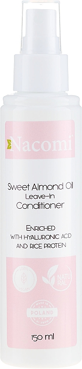 Condizionante per capelli con olio di mandorle, senza risciacquo - Nacomi No-Rinse With Sweet Almond & Hyaluronic Acid Conditioner — foto N1