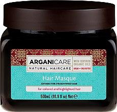 Profumi e cosmetici Maschera per capelli colorati - Arganicare Shea Butter Argan Oil Hair Masque