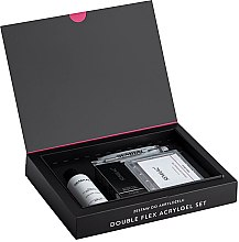Profumi e cosmetici Set - Semilac Set Double Flex Acrylgel Set Clear (nail/gel/60ml + tips/120pcs + gel/liquid/125ml + acc.)