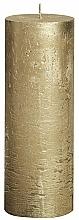 Profumi e cosmetici Candela cilindrica Metallic Gold, 190/68 mm - Bolsius Candle
