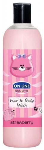 Shampoo gel detergente per bambini alla fragola - On Line Kids Time Hair & Body Wash Strawberry