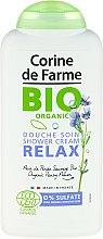 Profumi e cosmetici Gel doccia organico con estratto di pansé selvatica - Corine De Farme Relax Shower Gel