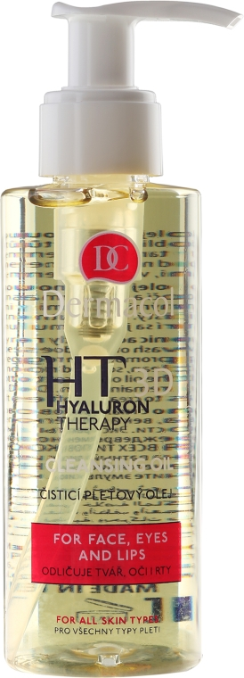 Olio detergente viso con acido ialuronico - Dermacol Hyaluron Therapy 3D Cleansing Oil — foto N2