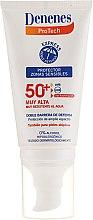 Profumi e cosmetici Crema solare per pelli sensibili - Denenes Sun Protective Cream SPF50+