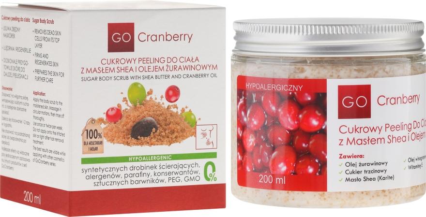 Scrub allo zucchero per corpo, con burro di karitè e olio di mirtillo - GoCranberry