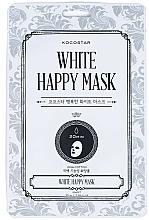 Profumi e cosmetici Maschera viso in tessuto - Kocostar White Happy Mask