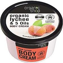 Profumi e cosmetici Crema corpo - Organic Shop Body Cream Organic Lichee & Oils