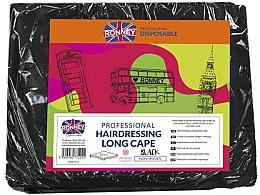 Profumi e cosmetici Mantella da barbiere, lunga, nera - Ronney Professional Hairdressing Long Cape