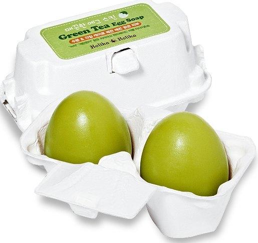Sapone detergente con tè verde - Holika Holika Green Tea Egg Soap