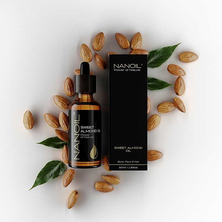 Olio di mandorle - Nanoil Body Face and Hair Sweet Almond Oil — foto N3