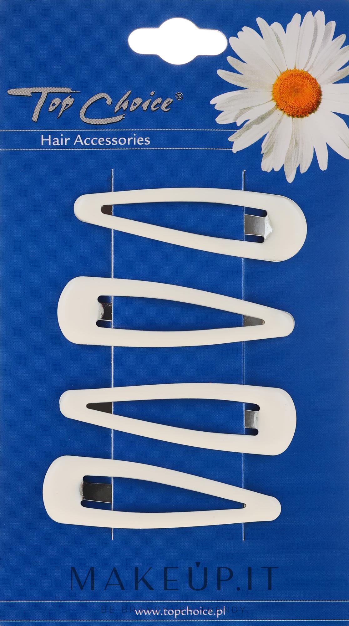 Fermacapelli, 4 pz, bianco - Top Choice — foto 4 pz.